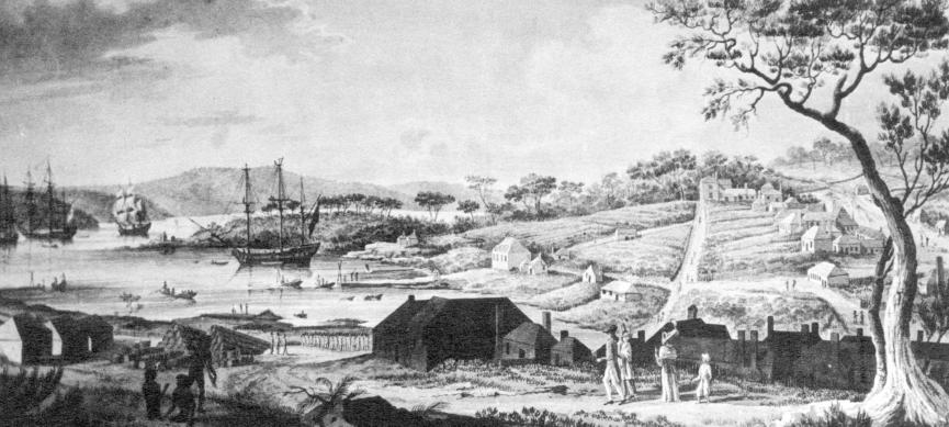 Sydney Cove as seen by newly arrived convict Thomas Massey 1791