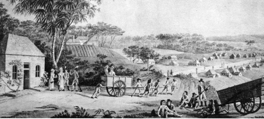 View of Parramatta as known to Thomas Massey 1793