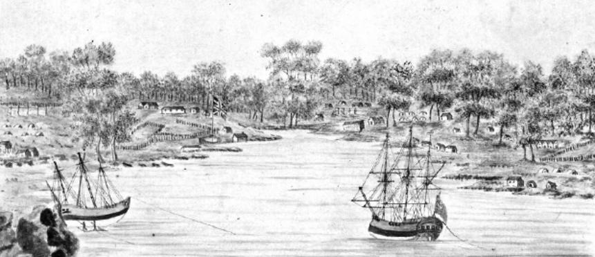 Sydney Cove 1791 - as it looked to arriving convict Thomas Massey